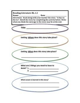 A Language Aligned CCSS Part 3 Activity for First Grade