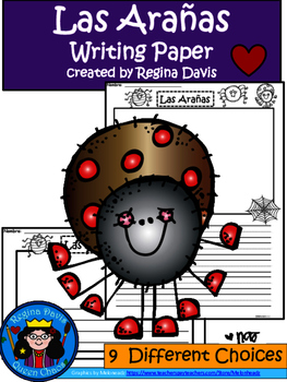 A+ Las Arañas (The Spiders) Spanish Differentiated Writing Paper