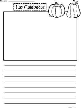A+ Las Calabazas (The Pumpkins) Spanish Differentiated Writing Paper