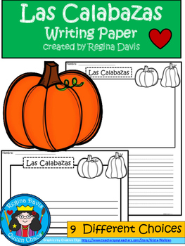 A+ Las Calabazas (The Pumpkins) Spanish Differentiated Wri