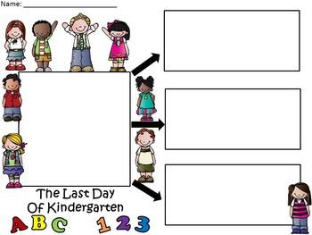 A+  Last Day of Kindergarten... Three Graphic Organizers