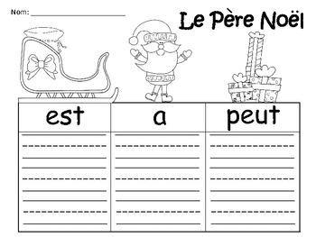A+ Le Pere Noel: French Graphic Organizers