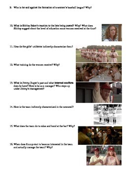A League of Their Own Film (1992) Study Guide Movie Packet