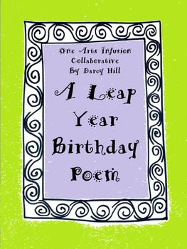 Leap Year Birthday Poem FREE FEB 2020