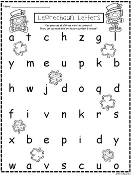 A+ Leprechaun: CVC Words And Letter Reading Practice