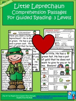 A+ Leprechaun Comprehension: Differentiated Instruction For Guided Reading