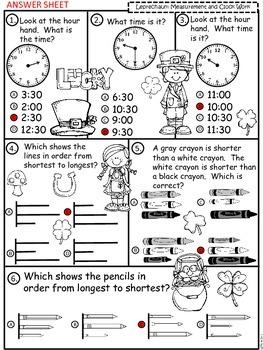 A+  Leprechaun Math: Clocks and Measurement
