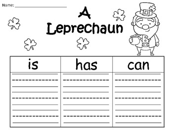 A+ Leprechaun... Three Graphic Organizers