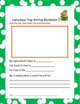 A Leprechaun Trap worksheet