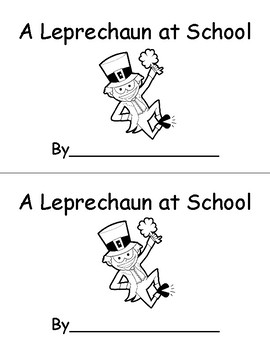 A Leprechaun at School Emergent Reader