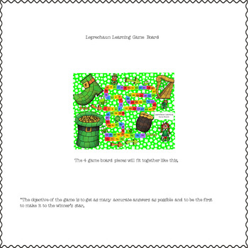 A Leprechaun's Life Learning Game Board