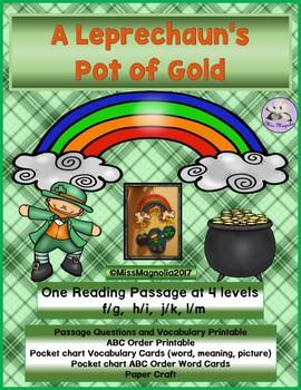 A Leprechaun's Pot of Gold Multi-Level Reading Passage