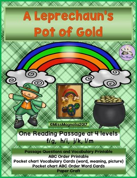A Leprechaun's Pot of Gold Multi-Level Reading Passage
