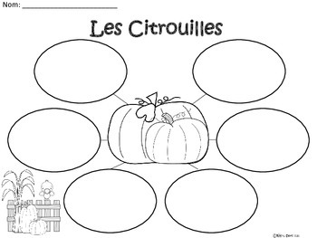 A+ Les Citrouilles: French Graphic Organizers