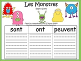 A+ Les Monstres: French Graphic Organizers