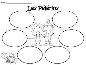 A+ Les Pelerins: French Graphic Organizers