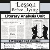 A Lesson Before Dying Unit Bundle