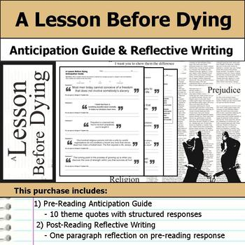 A Lesson Before Dying - Anticipation Guide & Reflection