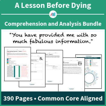 A Lesson Before Dying – Comprehension and Analysis Bundle