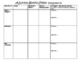 A Lesson Before Dying Literary Elements Review and Character Conflict Chart