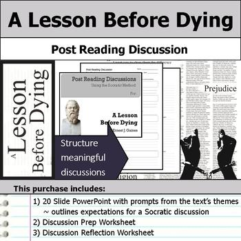 A Lesson Before Dying - Socratic Method - Post Reading Dis