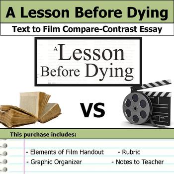 A Lesson Before Dying - Text to Film - Compare and Contrast Essay Bundle
