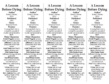 A Lesson Before Dying ed. of Bookmarks Plus: Fun Freebie & Handy Reading Aid!