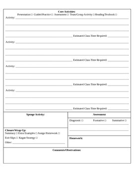 A Lesson Planning Template