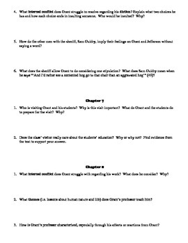 A Lesson before Dying 16-Page Study Guide