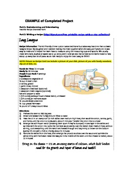 A Lesson in Expository, Persuasive and Procedural Texts - Class Cookbook