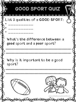 A Lesson on Being a Good Sport, Grades 4-6