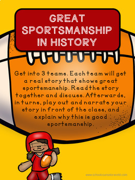 A Guidance Lesson on Being a Good Sport, Grades 4-6