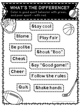 A Lesson on Being a Good Sport, Grades K-1