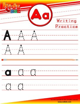 A Letter Phonics Tracing Writing Sheet