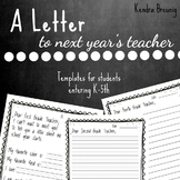 A Letter To Next Year's Teacher