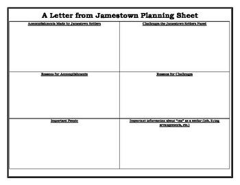 Jamestown Letter Writing Activity
