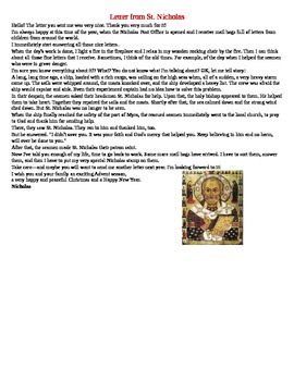 A Letter from Saint Nicholas
