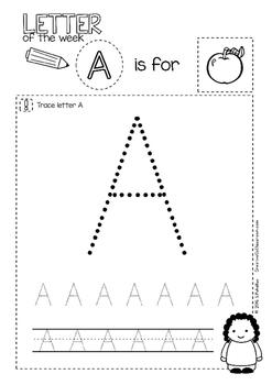 A - Letter of the week - NO PREP preschool & kindergarten letter work worksheets