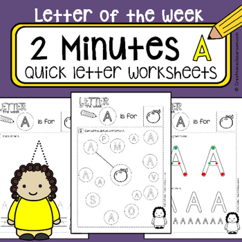 A - Letter of the week - NO PREP preschool & kindergarten