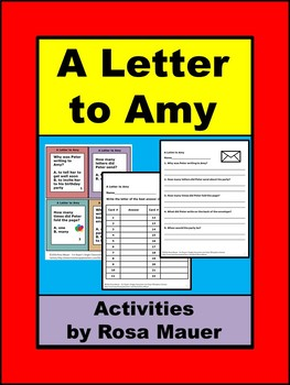 A Letter to Amy Literacy Packet