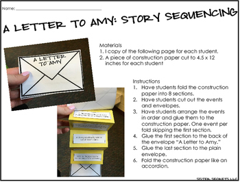 A Letter to Amy: Realistic Fiction Mini Unit