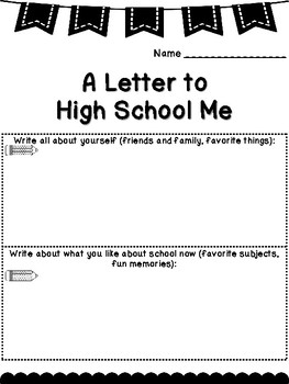 A Letter to High School Me Writing Project (Template/Organizer)