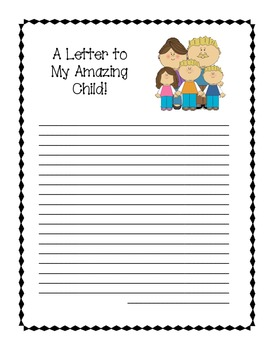 A Letter to My Child! Parent Conference Resource!
