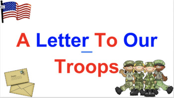 How to write a letter to the troops