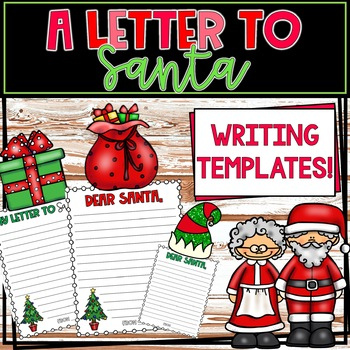 A Letter to Santa Writing Template
