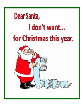 A Letter to Santa with a Twist