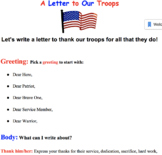 A Letter to the Troops