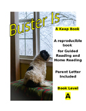 """A"" Level Book about Dogs to Print and a Letter for Parent"