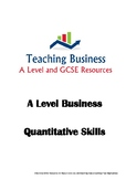 A Level Business Math Skills