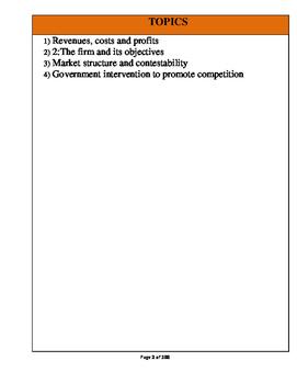A Level Economics Unit 3: Business Behavior(Full Notes)